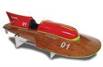 Tornado 80 Wooden R/C EP Speed Boat