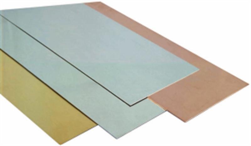 Various types of sheet metal