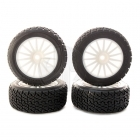 Kyosho Rally Tyre White Spoke Wheels Drx Elite