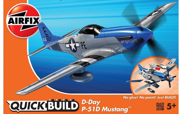 Airfix Quick Build  D-Day P-51D Mustang J6046