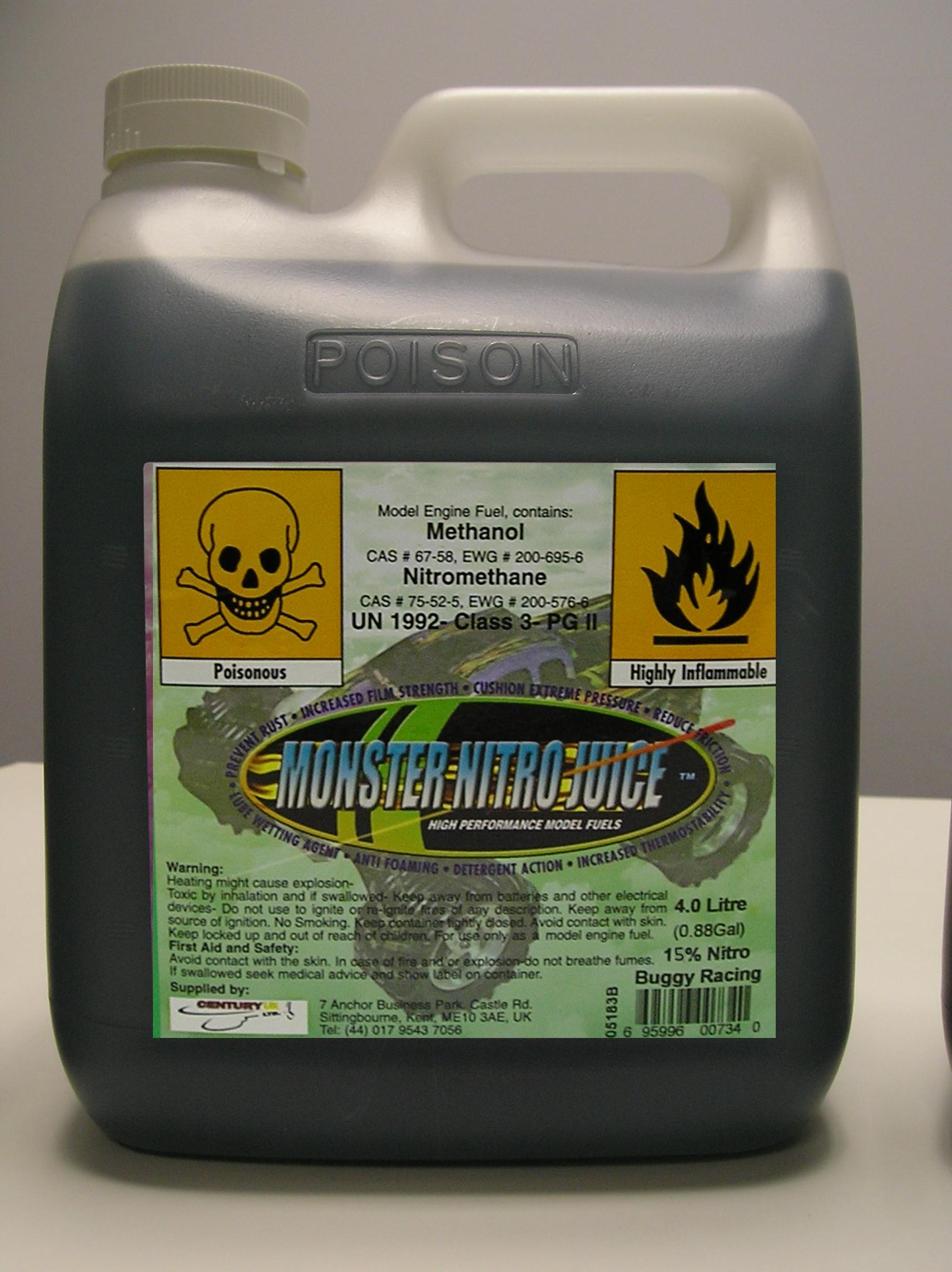 Century UK Monster Nitro RC Fuel 4Ltr 15% Mix CUK-MN15-4L