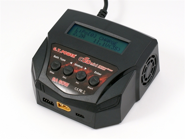 GT POWER C6D 240V MINI CHARGER, LI-PO, LI-FE, NI-MH, NI-CD 1-CHG-C6D-M
