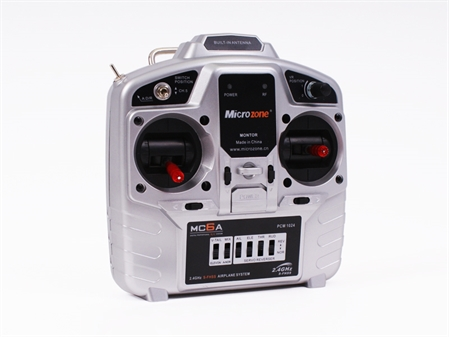MICROZONE MC6A TRANSMITTER AND RECEIVER (MODE 2) - WHITE