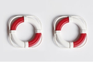 Lifebelts (40mm) - White/Red