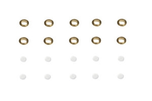 Brass Flanged Portholes (10) - 4x7mm