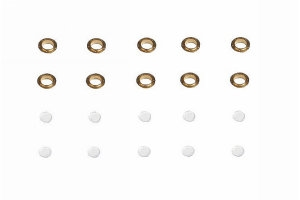 Brass Flanged Portholes (10) - 5x8mm
