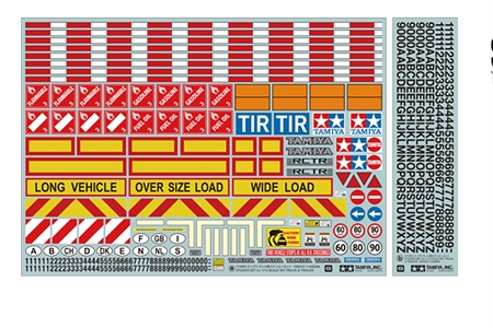 Additional Detail Sticker Set 1/14 RC Trucks and Trailers Tamiya