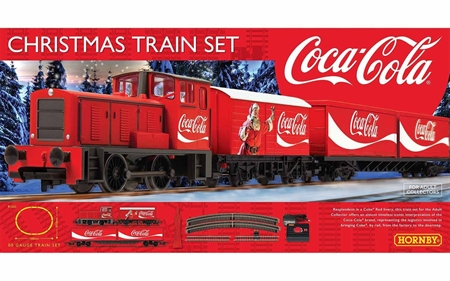 Christmas Train Set.Hornby Coca Cola Christmas Train Set R1233