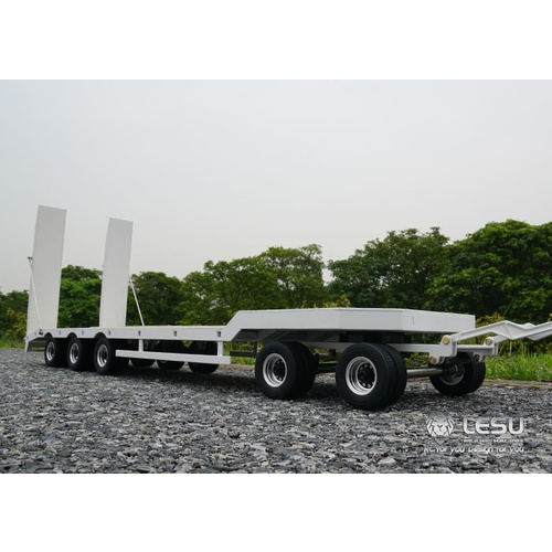 Lesu 1/14 Drawbar Low Loader Trailer