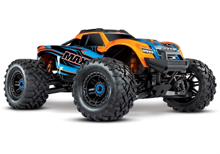 Maxx 1/10 4WD VXL (TQi, TSM, No Batt, No Chgr) Orange