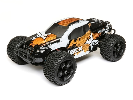 1/10 4WD Ruckus Brushed Orange/White RTR