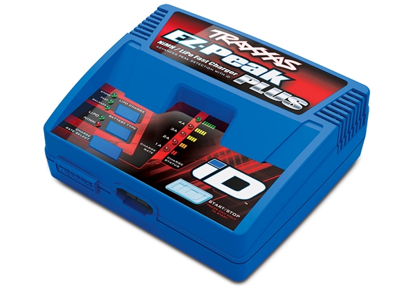 Charger, EZ-Peak Plus, 4 amp, NiMH / LiPo with iD Auto Battery Identification