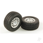 HLNA0154 Tyres AT2 Mounted Silver Wheel Pair Dominus SC