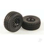 HLNA0155 Tyres AT2 Mounted Black Wheel Pair Dominus SC
