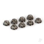 HLNA0228 SERRATED NUTS FLANGED M4