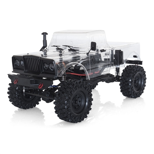 CRX Survival v2 1/10th 4wd self assembly scale crawler truck kit (Inc body and accessories, wheels/tyres and 55t motor)